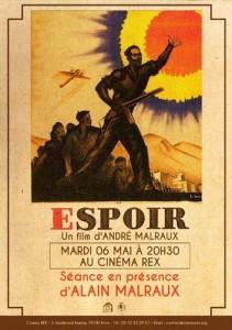 André Malraux'n elokuvan L'Espoir juliste.