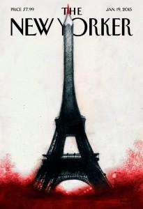 New Yorker lehden kansi  Charlie Hebdon tapahtumien jälkeen.