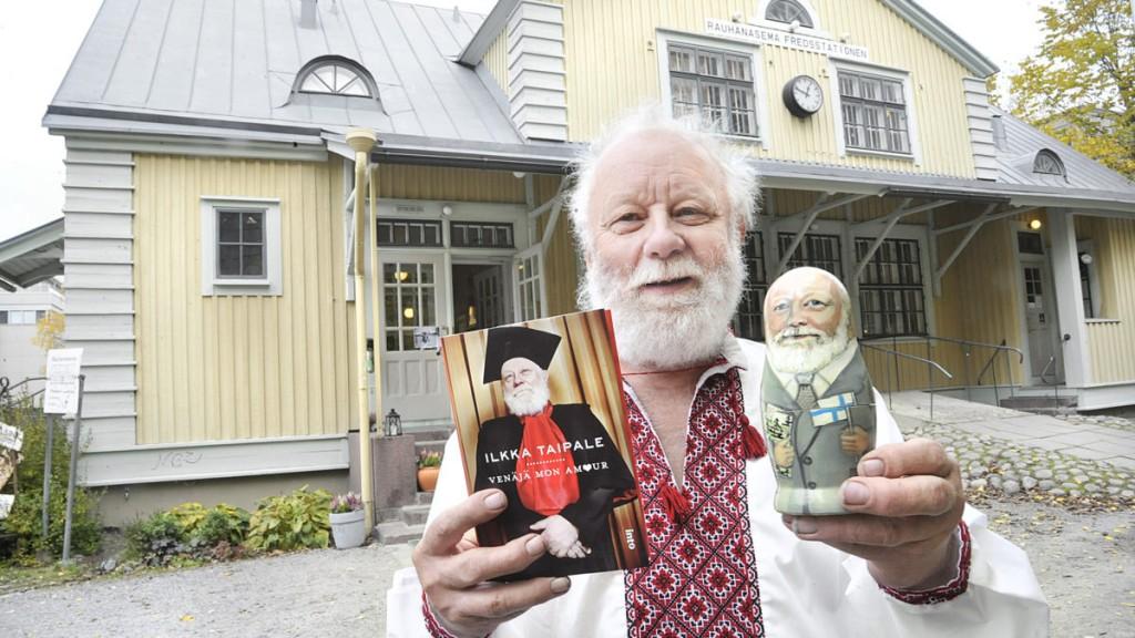 Ilkka Taipale julkistaa Pasilan rauhanasemalla kirjan Venäjä - Mon Amour.